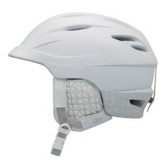 "Giro Women's Sheer Snow Helmet (White Radius, Medium) by Giro. $93.95. Amazon.com                Plush finishing details, a perfect fit, and a feather-light weight make the Giro Sheer an ideal snow helmet for women who value performance and style. The Sheer is made using Giro's in-mold construction, which fuses a tough polycarbonate outer shell with the helmet's impact-absorbing EPA foam liner. Not only does this fusion process reinforce both layers, but the ""exo..."