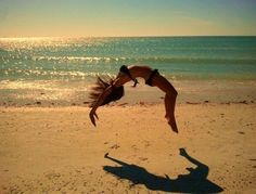 Still do beach gymnastics.. with the 2 skills I can still do.. #gymnastics #beach #missit