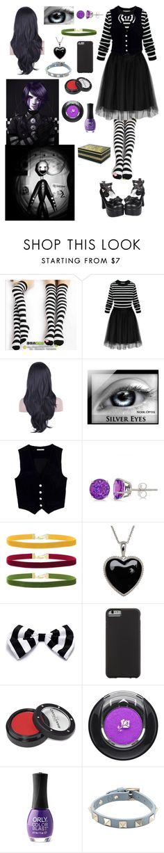 """""""FNAF: Daughter of the Marionette"""" by ender1027 ❤ liked on Polyvore featuring Freddy, Cosgirl, AG Adriano Goldschmied, Allurez, Rock 'N Rose, Lord & Taylor, Case-Mate, Manic Panic, Lancôme and ORLY"""