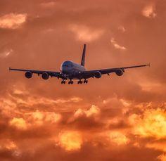 Qantas A380, Airplanes, Aviation, Aircraft, Sky, Iphone, Travel, Dawn, Heaven
