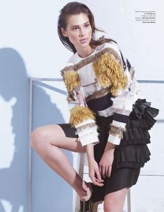 anais lofficiel mexico3 Anais Pouliot Stars in Debut Issue of LOfficiel Mexico by Andrew Yee