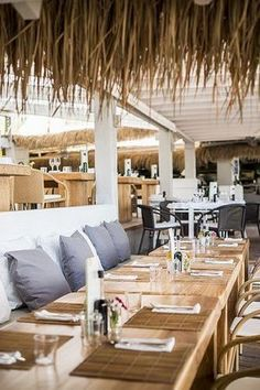Spectacular Beach Restaurant Interior Exterior Design Ideas The interior has a specific amount of drama and yet in addition, it is easy. It is very glamorous but also very simple. Employing arched casing for en… Beach Restaurant Design, Caribbean Restaurant, Restaurant Themes, Terrace Restaurant, Waterfront Restaurant, Restaurant Concept, Restaurant Interior Design, Seafood Restaurant, Cafe Interior