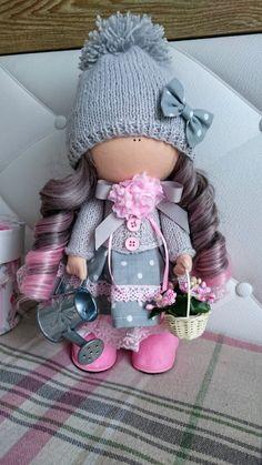 Handmade doll Art doll Textile doll Cloth doll Fabric doll