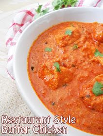 COOKING IS EASY: Butter Chicken.....Restaurant style.