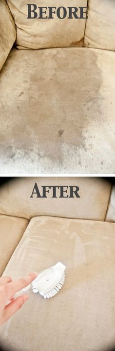 How To Clean A Microfiber Couch with ONE Ingredient. Many people love cleaning cheats like this and this is one of the best.