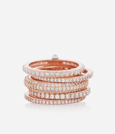 <p>The Petite Hand Me Down Stack Ring is an essential addition to your luxury jewelry collection this season. Go from minimal to multiple as you adorn your digits with this pre-stacked designer jewelry ring made entirely of Swarovski crystals and featuring our new pin pivot stack mechanism.</p>