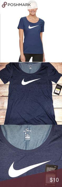 Nike Women's Swoosh Short Sleeve Graphic Tee Scoopneck Dri-fit Tag-free Nike Tops Tees - Short Sleeve