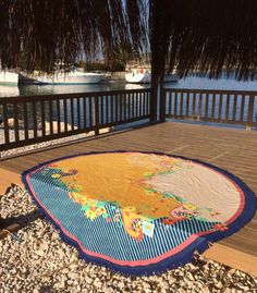 Round towel by Summerforever.ca, beach towels, perfect for the pool, spa, bath; travel