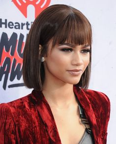 Pin for Later: These Are the Hottest Hollywood Haircuts to Get For Summer 2016 Sleek Bob With Bangs