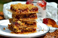 Allergy Friendly Raspberry Peach Champagne Jam Bar Cookie _ Nom Yum & Free