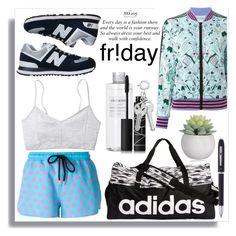 """sport"" by teresapulido ❤ liked on Polyvore featuring Markus Lupfer, Muji, New Balance, adidas, NARS Cosmetics and Cross"