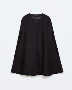 BUTTONED CAPE COAT - Outerwear - WOMAN | ZARA Malaysia