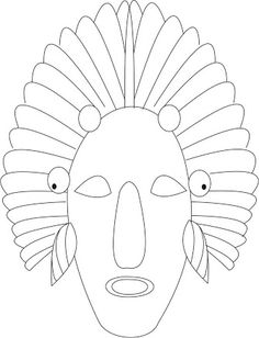 african masks templates to colour - Google Search