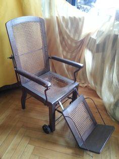 Krankenstuhl Rollstuhl Arzt Wiener Geflecht Liegestuhl Stuhl Relax Dekoration