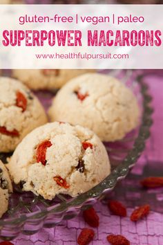 Superpower Macaroons #paleo #vegan #glutenfree