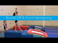 Round Off & Frond Handspring / Basics & Inspiration Gymnastics Levels, Gymnastics Lessons, Preschool Gymnastics, Tumbling Gymnastics, Gymnastics Coaching, Gymnastics Videos, Gymnastics Workout, Olympic Gymnastics, Back Handspring Drills