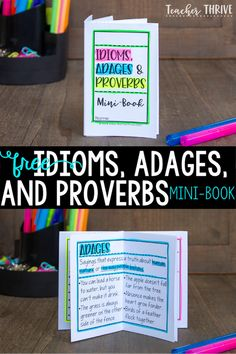 While idioms, adages, and proverbs are all non-literal figures of speech, there are distinctions between the three that your students should know.