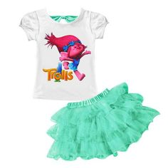 0e0cf977522 2pcs 2018 Summer Baby Girls Clothes T-Shirt+Skirt Kids Tracksuits Girls  Sport Suit