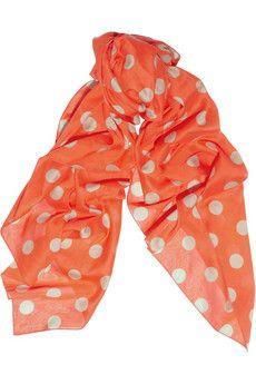 Sonia Rykiel Sonia by Polka-dot cotton-voile scarf - ShopStyle Scarves & Wraps Sonia Rykiel, Polka Dot Scarf, Polka Dots, Cute Scarfs, Models, Passion For Fashion, Just In Case, Style Me, Personal Style