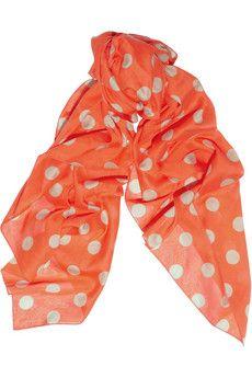 Polka dot scarf.