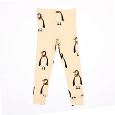 Mini Rodini Fall 2013: Penguin Leggings ($35). The print is also available in a long-sleeve tee, short-sleeve tee, onesie, dress, jumpsuit, hat, and gloves.