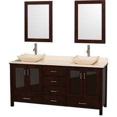 Special Offers - Wyndham Collection Lucy 72 inch Double Bathroom Vanity in Espresso with Ivory Marble Top with Ivory Marble Sinks - In stock & Free Shipping. You can save more money! Check It (June 12 2016 at 05:24AM) >> http://bathstoreaccessories.net/wyndham-collection-lucy-72-inch-double-bathroom-vanity-in-espresso-with-ivory-marble-top-with-ivory-marble-sinks/