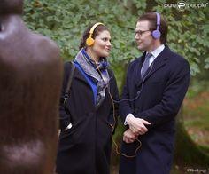 La Princesa Victoria y el Principe Daniel visitaron la ciudad Ostra Goinge en el Condado de Skåne,