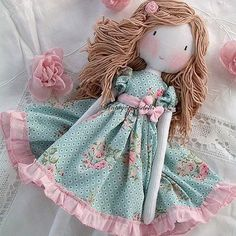 Soft Dolls - Her Crochet Handmade Dolls Patterns, Handmade Toys, Handmade Rag Dolls, Rag Doll Patterns, Fabric Doll Pattern, Fabric Dolls, Paper Dolls, Homemade Dolls, Baby Girl Dolls
