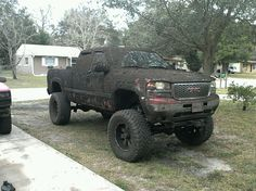 Excuse me, Sir? You seemed to have missed a spot. Mind if I help you put a little more mud on your truck?
