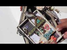 ▶ Scrapbooking Altered Bird House *Mini Album* LWP Prima - YouTube
