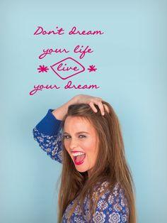 WALL*MANIA sticker #wallmania #muursticker #quote #life #dream