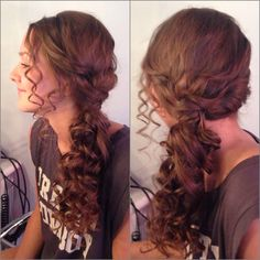 Prom hair to the side