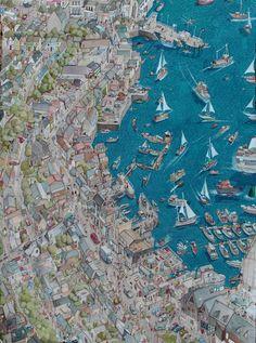 Illustrated Map of Falmouth - Charlie Davis Illustration
