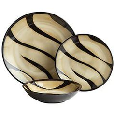 Zebra Dinnerware - From Pier 1.  I love this one too!  So many to choose from!