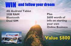 Win a fantastic 10.1, 4g tablet with $600 of free information about starting an online business. Thanks to @johnnysmelt and…