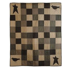 Kettle Grove Throw Crow and Star 60x50in