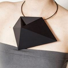 Oh boy. 3D printing necklace by Rosalba Balsamo at OHMYBLUE