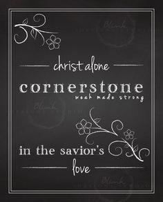 Chalkboard Christ Alone Cornerstone Art by BlinkByAmandaLane Chalkboard Bible Verses, Savior, Christ, Handwriting, Stones, Etsy, Art, Calligraphy, Art Background