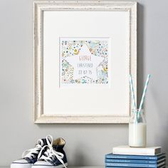 personalized christening gift, baptism gift, naming ceremony gift, bespoke gift, personalized christening print, star print, naming day by LittleRagsmith on Etsy
