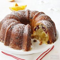 Cranberry Orange Pound Cake with a Champagne Glaze & Final Four Trip for the BHG Ultimate Baking Challenge