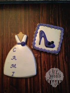 NLC cookies, dress and shoe.