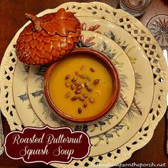 Roasted Butternut Squash Soup for a Winter Dinner Party