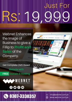 Webnet Pakistan Offer Web Design, Web Development, E-commerce, Professional Website Designers, SEO , Logo Design, Marketing services..!!