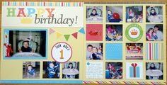 First Birthday - Scrapbook.com