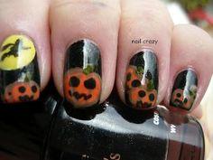 DIY halloween nails: DIY Halloween nail art : Halloween nail art challenge - Pumpkin