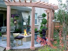 A little busy but I do like the pergola-ish structure