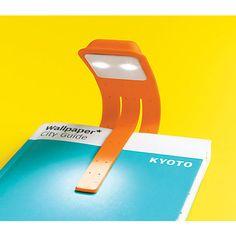 Orange Booklight: Clip & flex! #Booklight