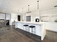 Modern island kitchen design using granite - Kitchen Photo 233746 Kitchen Bar Design, New Kitchen Designs, Kitchen Images, Kitchen Photos, Kitchen Decor, Kitchen Ideas, Granite Kitchen, Kitchen Countertops, Island Kitchen