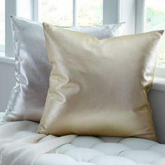 Satta Leather Decorative Pillow. SFERRA