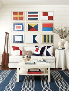 Explore a collection by award-winning interior designer Suzanne Kasler! Shop Ballard Designs for a fresh style that includes outdoor living, art, and accessories. Nantucket, Les Hamptons, Nautical Interior, Nautical Design, Nautical Style, Nautical Office, Nautical Bedroom, Nautical Wall Decor, Nautical Fashion